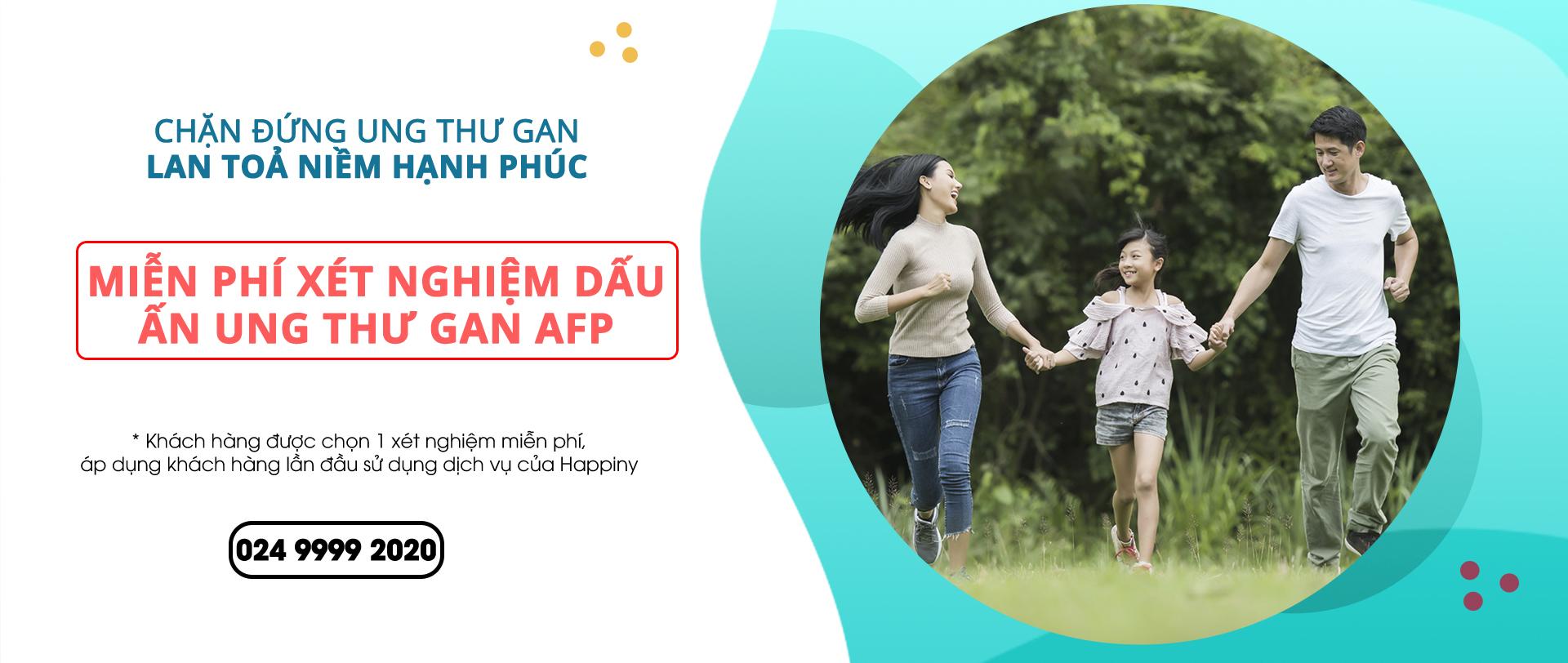 Happiny: Miến phí xét nghiệm dấu ấn ung thư gan AFP
